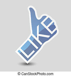 Like symbol. Thumb Up.