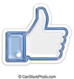 like thumb up isolated on white background