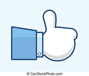 "Like - Thumb up ""like"" hand symbol. Vector, EPS10."