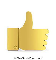 Like thumb up social network symbol