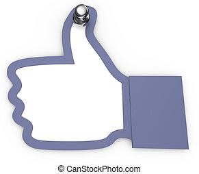Like thumbs up hand pin