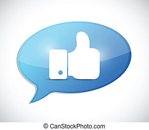 like thumbs up illustration message over a white background