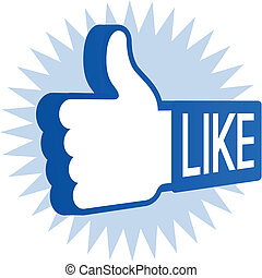 Like Thumbs Up - Like thumbs up social networking symbol.