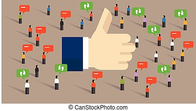like thumbs up social media public engagement internet ...