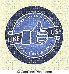 Like us Icon, Illustration icon social networks