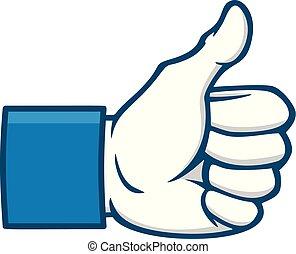 Like Us on Social Icon - A cartoon illustration of a Social ...