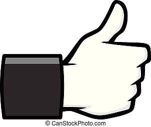 Like Us on Social Media Icon Illustration - A cartoon ...