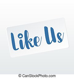 Like us- thumbs up approval icon social media