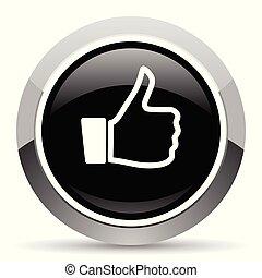 Like vector steel icon. Chrome border round web button....