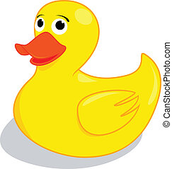 duck - Likeable rubber duck. Vector illustration