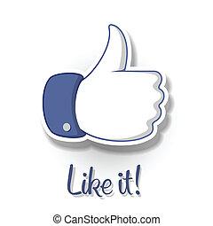 Like/Thumbs Up symbol icon on white background