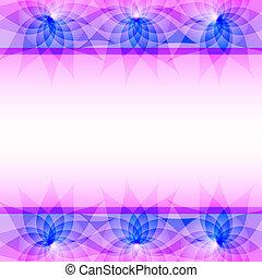 lila, abstrakt, vektor, blumen, hintergrund