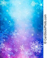 lila, blauer schnee