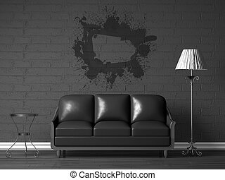 Kronleuchter In Rot ~ Minimalist sofa standleuchte kronleuchter schwarz rot