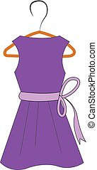 lila, kleiderbügel, kleiden