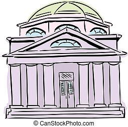 lila, kuppelförmig, synagoge, dach