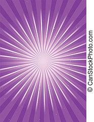 lila, leuchtsignal, strahlig