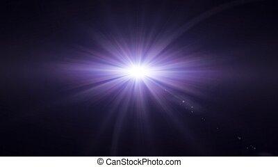 lila, linsenleuchtsignal, glühen