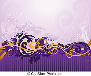 lila, muster, horizontale streifen