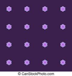 lila, púrpura, patrón,  seamless,  vector, rosas