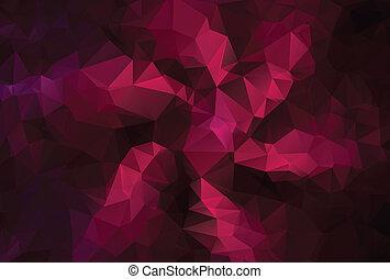 lila, polygonal, modern, hintergrund