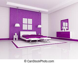 lila, schalfzimmer