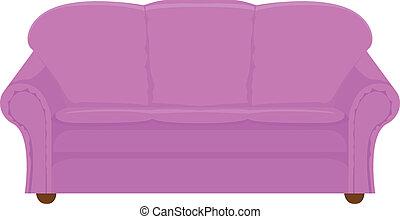 lila, sofá