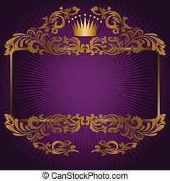 lila, symbole, königlich, hintergrund