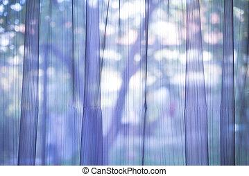 lila, vorhang, durchsichtig, hintergrund