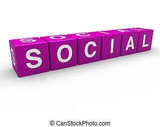 lila, würfel, 3d, sozial