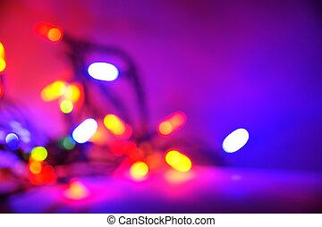 lila, weihnachtslicht, hintergrund