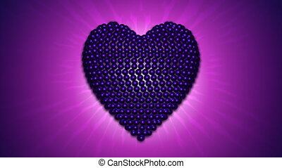 Lilac and blue heart rotating