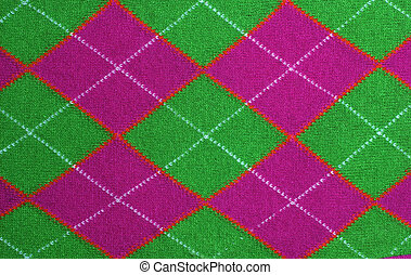 lilac and green argyle pattern fabric