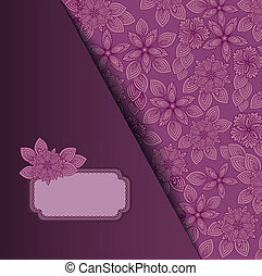 Lilac background with a frame