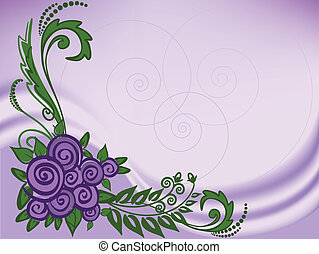 Lilac background with roses