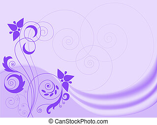 lilac background with swirls - Lilac abstract background...