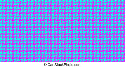 Lilac Blue Seamless Houndstooth Pattern Background. Traditional Arab Texture. Fabric Textile Material.