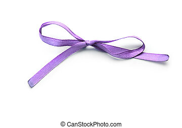 Lilac bow isolated on white