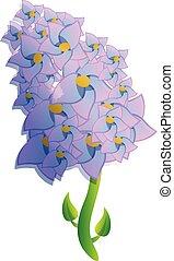 Lilac branch icon, cartoon style