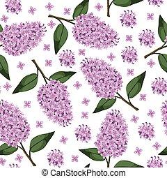 Lilac branch pattern seamless