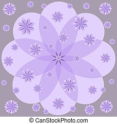 Lilac flowers on purple background.
