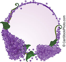 lilac frame - vector frame with flowers of the lilac