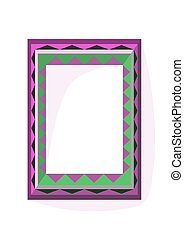 Lilac green angular frame