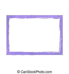 Lilac grunge frame