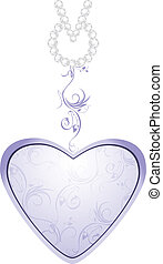 Lilac heart isolated on the white