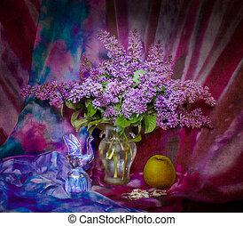 lilac in a vase, still life