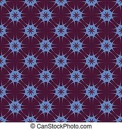 Lilac patterns on a Burgundy background.   Seamless pattern.