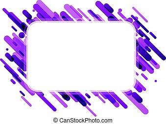 Lilac rectangular background on white.