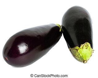 Lilac ripe eggplant