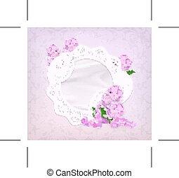Lilac romantic background